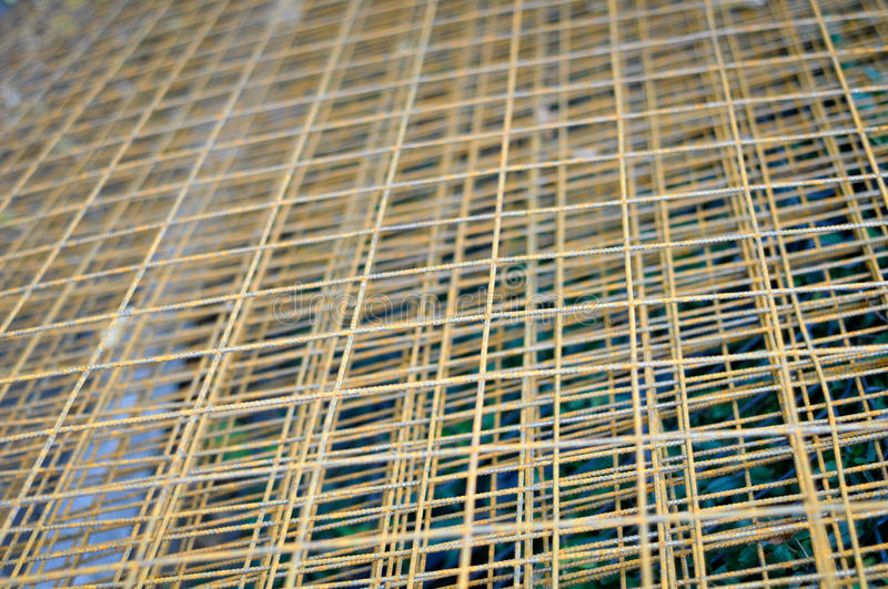 Metal mesh. Ready for concrete buildings stock images