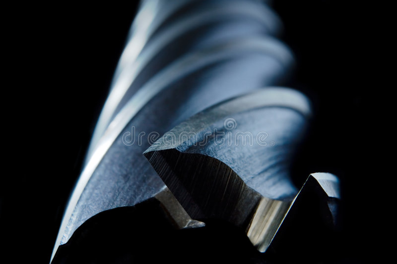 Metal mill drill stock photo
