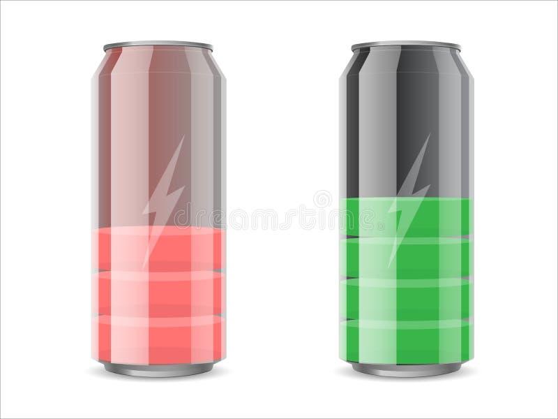 Metal może lubić baterię ilustracja wektor
