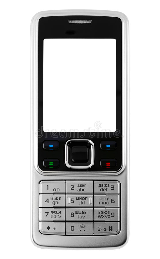 Metal mobile phone royalty free stock images