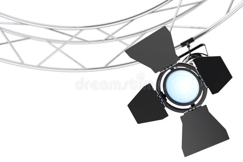 Metal Modern Stage Spotlight Construction. 3d Rendering royalty free illustration