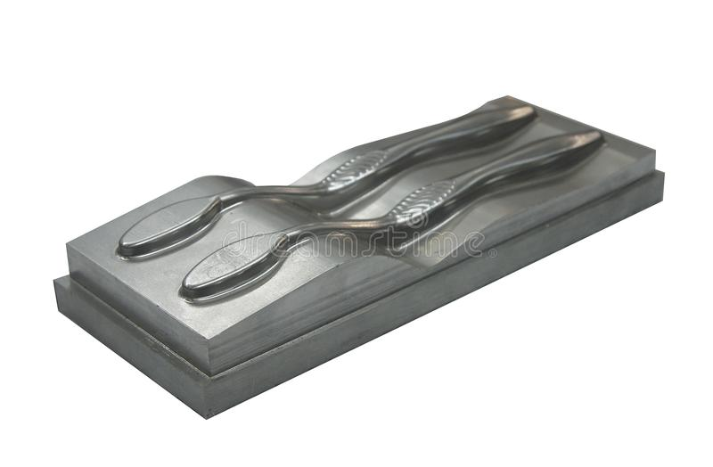 Metal mold for toothbrush royalty free stock photography
