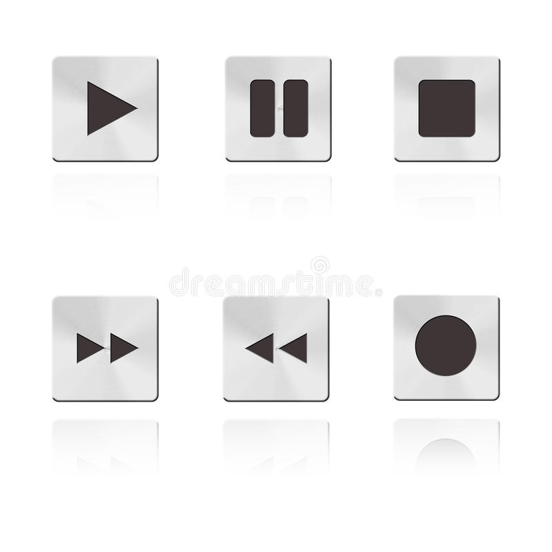 Download Metal music Button stock illustration. Image of style - 28630881