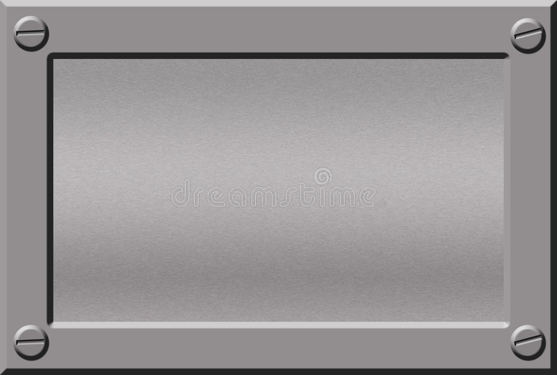 Download Metal nameplate stock illustration. Image of alloy, background - 1721001