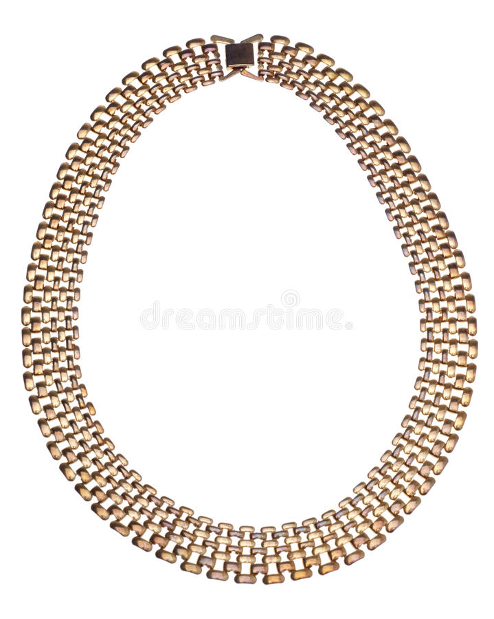 Metal Necklace royalty free stock photo