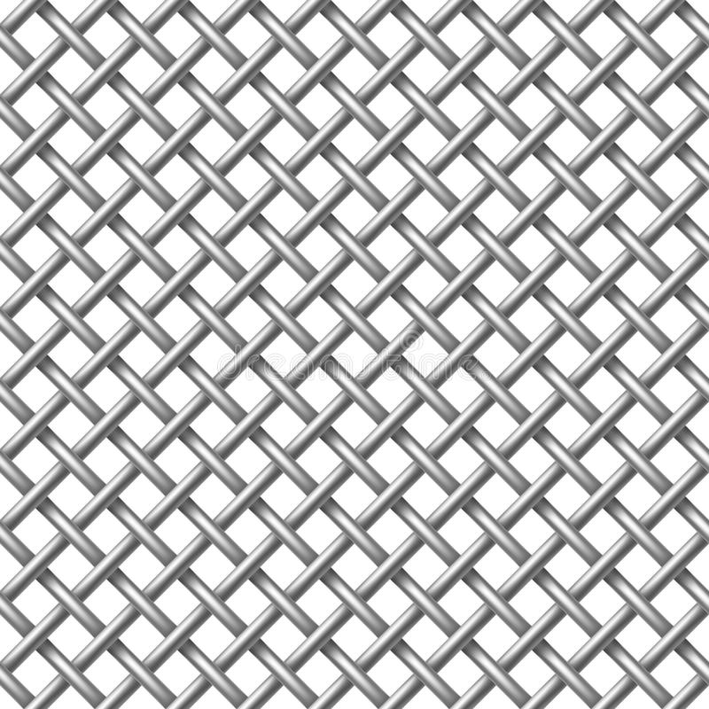 Metal net seamless pattern. stock images