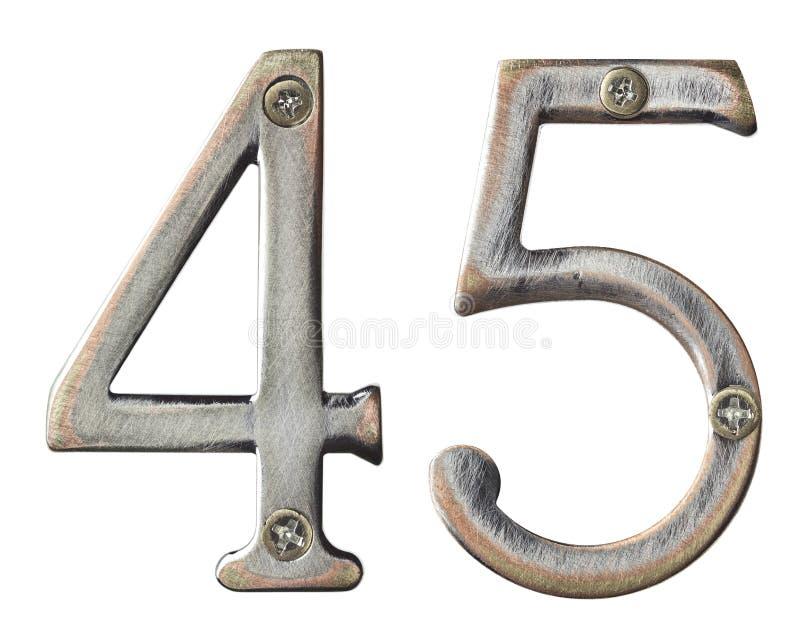 Metal numbers royalty free stock photos