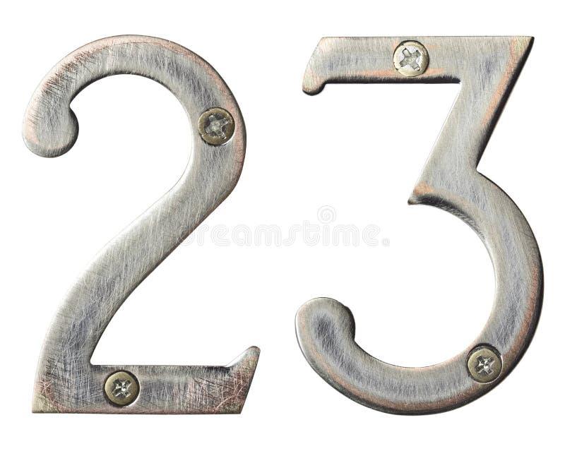 Metal numbers stock photo