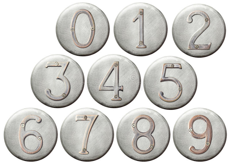 Download Metal numbers stock image. Image of aged, gray, metal - 23448405