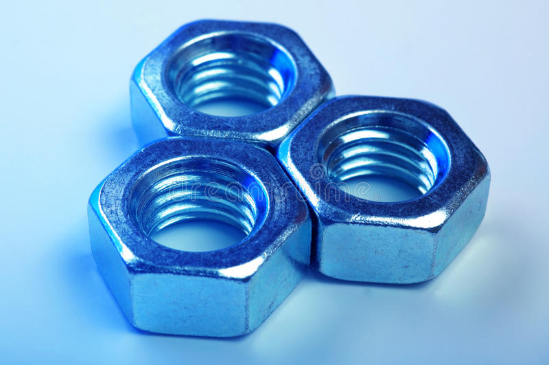 Metal nut stock image