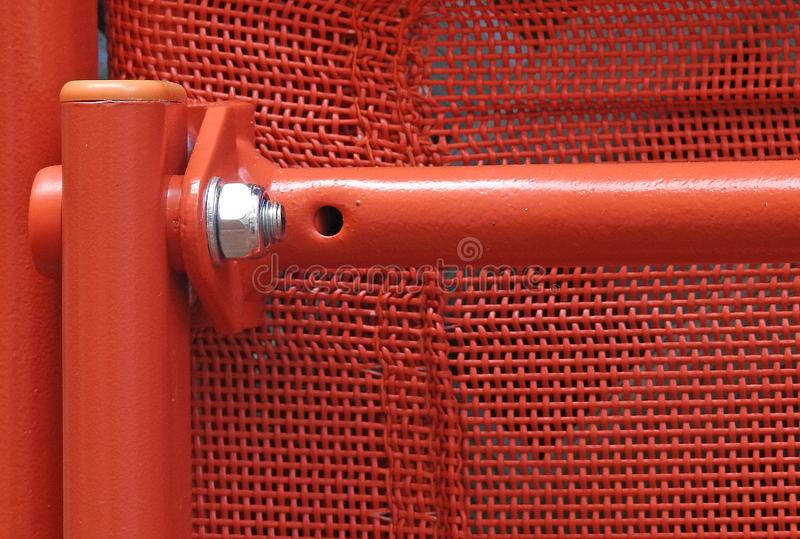 Metal nut and bolt thread fixing diy home repair garden chair royalty free stock photo