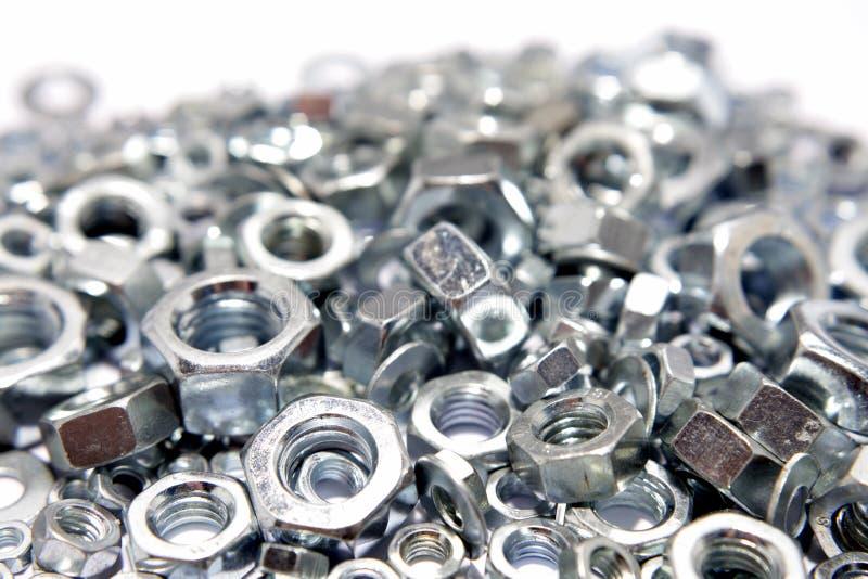 Metal nuts royalty free stock photos