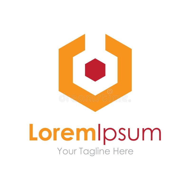 Metal o ícone contínuo do logotype do logotipo da produção da indústria da engrenagem ilustração stock