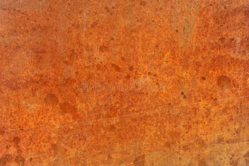 Metal o acero corroído aherrumbrado viejo marrón anaranjado imágenes de archivo libres de regalías