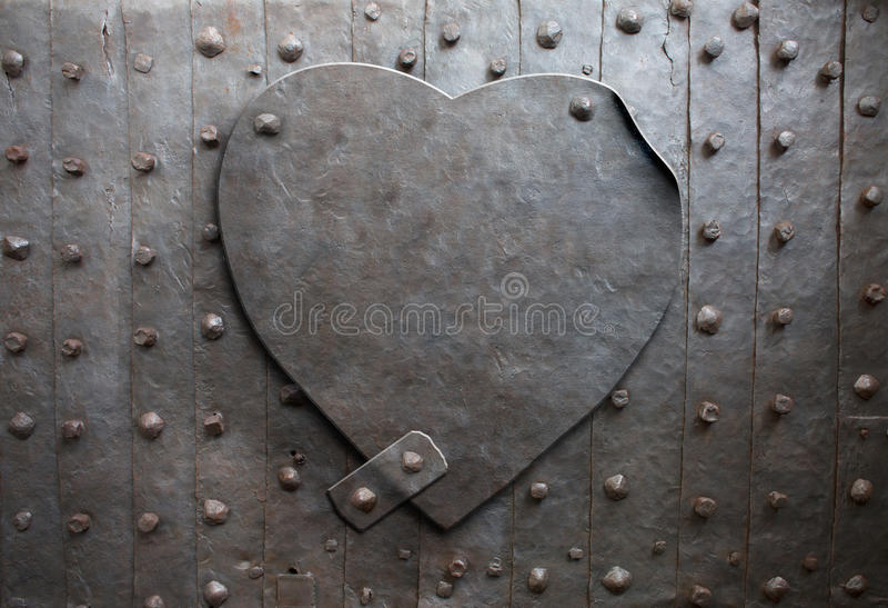 Metal o coração imagens de stock royalty free