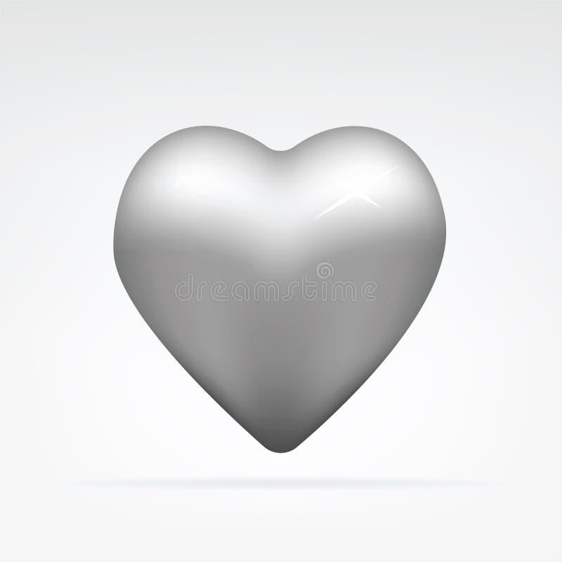 Metal o coração fotografia de stock royalty free