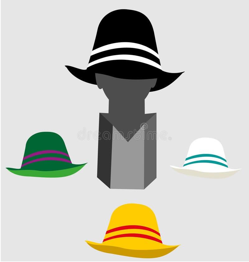 Metal o manequim principal para indicar chapéus à moda e modernos fotos de stock