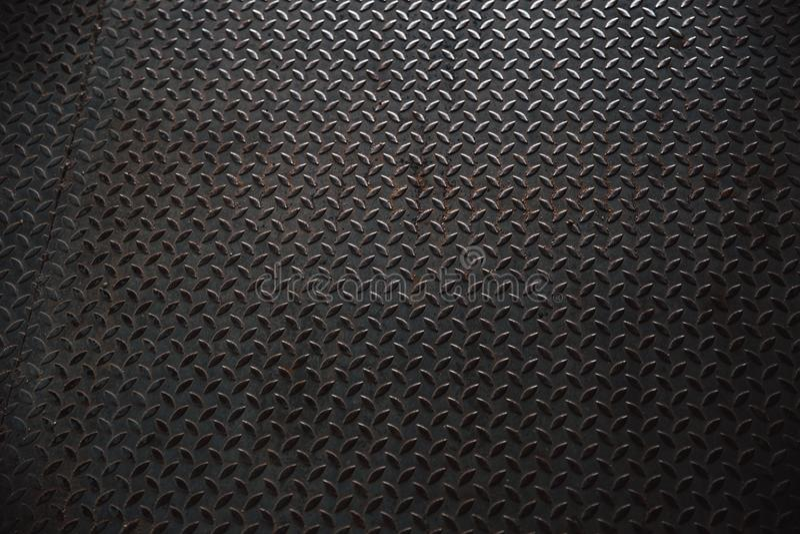 Metal o teste padrão de aço da placa do pavimento de uma tampa de câmara de visita imagem de stock royalty free