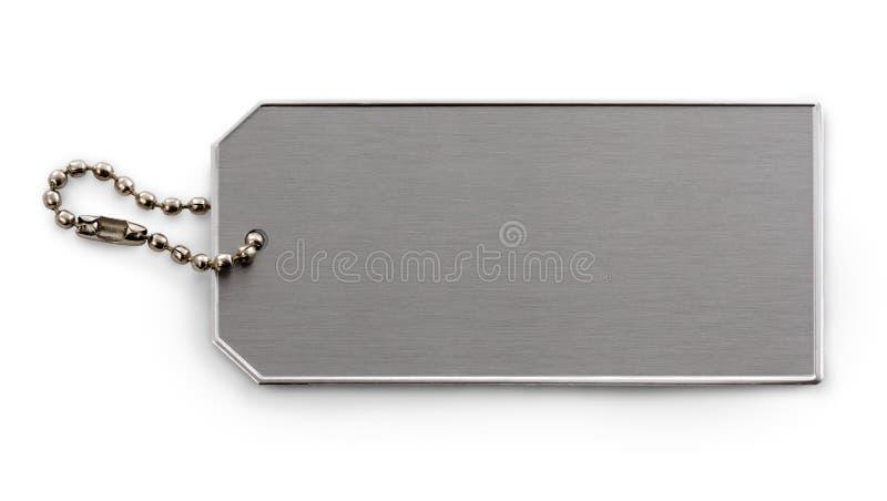 metal oczyszczona etykietka zdjęcie stock