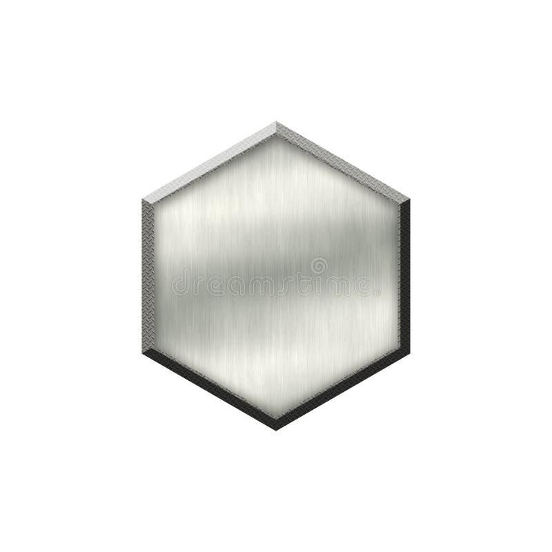 Metal odznaka z kruszcową granicą w formie okrąg ilustracji