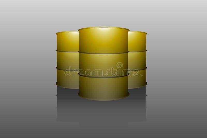Metal oil barrel tank vector illustration
