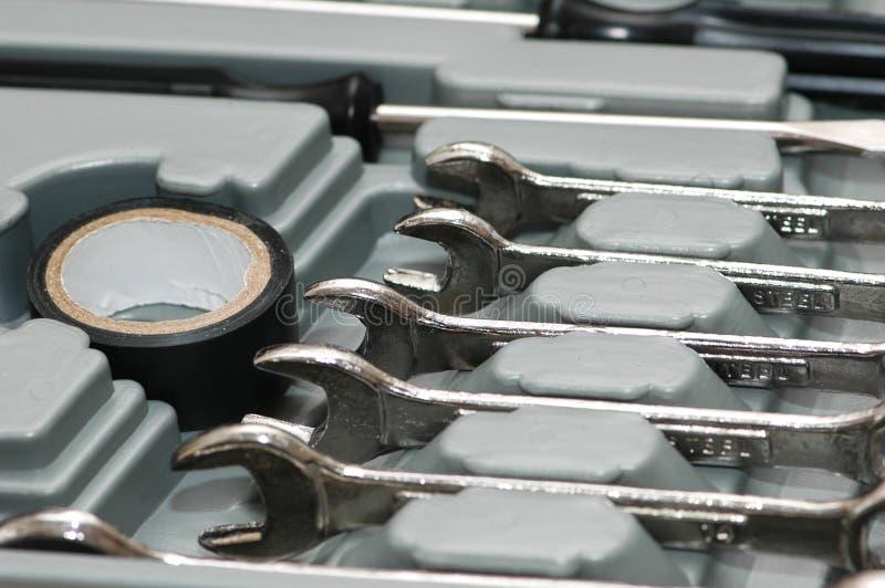 metal olika skiftnycklar royaltyfri fotografi