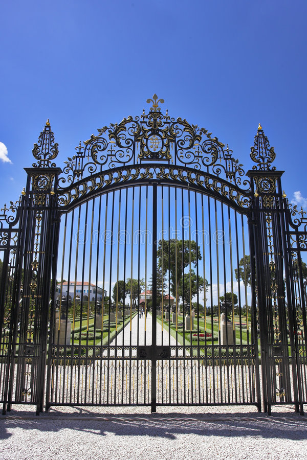 Download The metal openwork gate stock photo. Image of boundary - 6889434