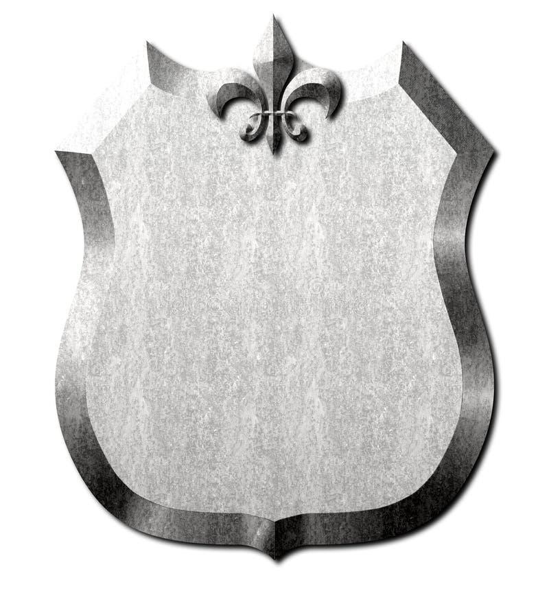 Metal osłona Fleur De Lis Podpisujący ilustracji