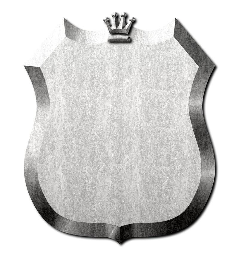 Metal osłona korona znak ilustracji