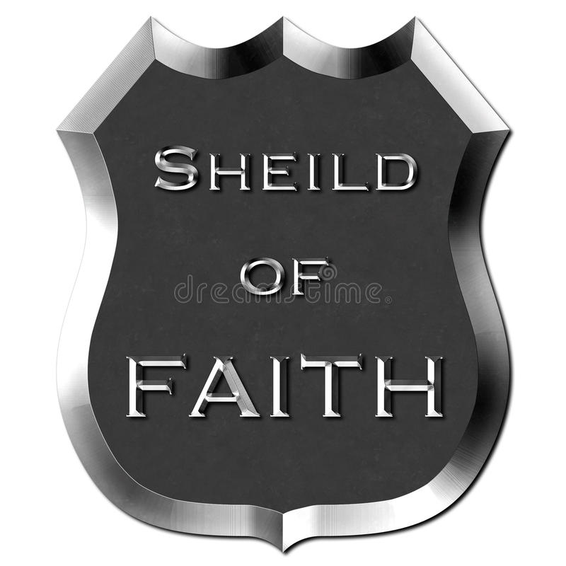Metal osłona wiara znak ilustracja wektor