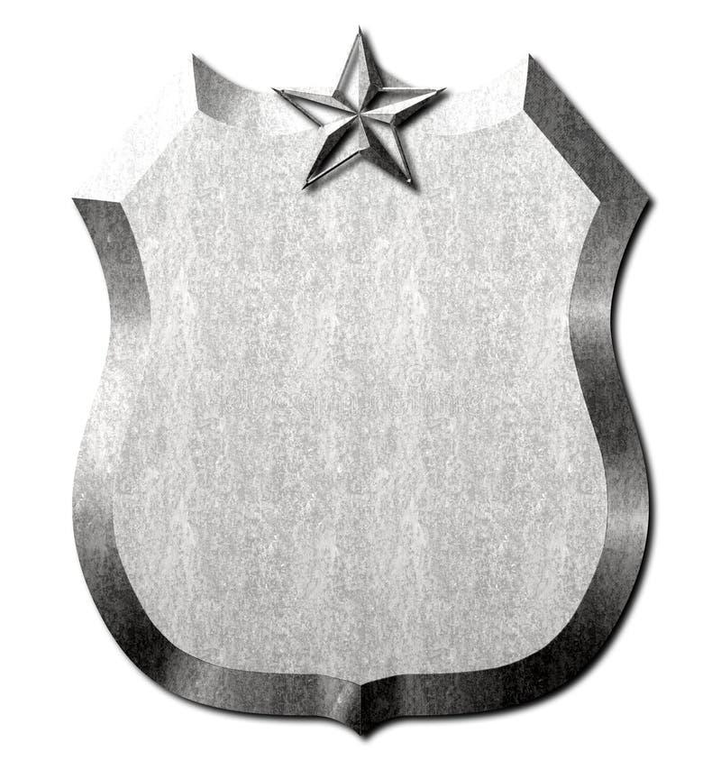 Metal osłony gwiazdy znak ilustracji