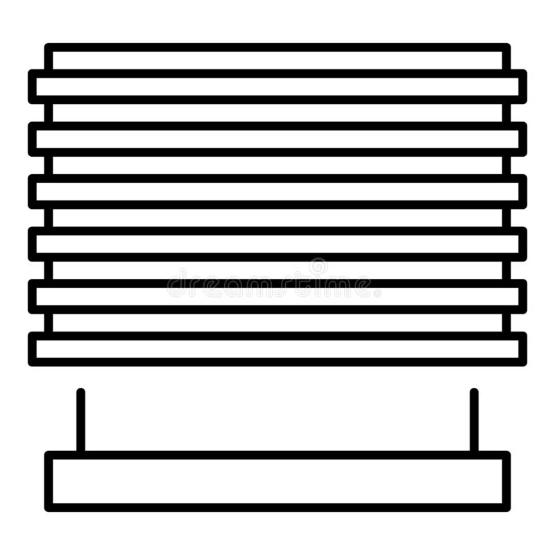 Metal outdoor louvers icon, outline style royalty free illustration