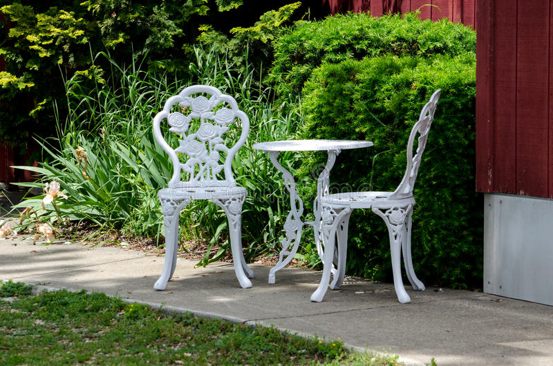 Metal Outdoor Table And Chairs Stock Photo Image Of