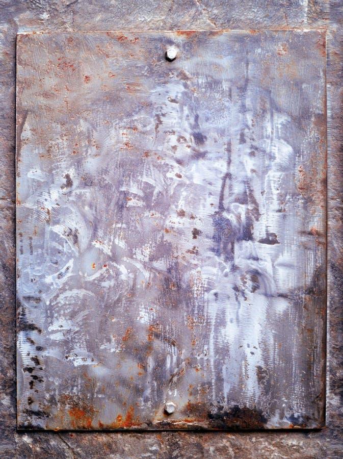 Metal oxidado textured, fundo velho da oxida??o do ferro do metal, corro?do, fundo do metal pintura colorido rachada velha no fer imagens de stock