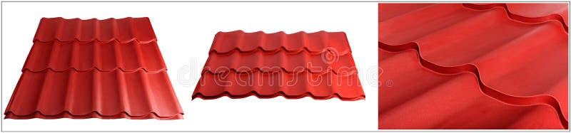 Metal płytka, nowożytny materiał dla dachu domy Set zrobi specyficznie dla specjalizować się stron internetowych zdjęcie stock