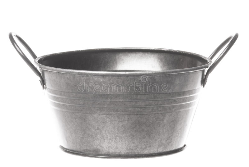 Metal Pail Isolated. Isolated image of a metal pail stock images
