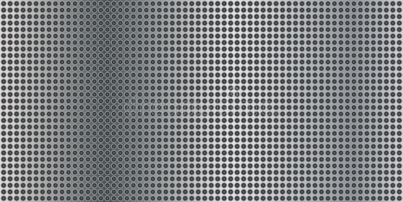 Metal panel with small holes. Vector royalty free illustration