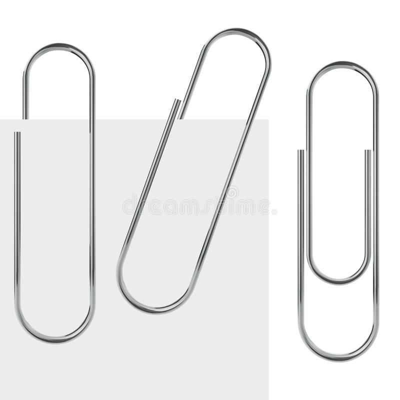 Metal paperclip vector illustration