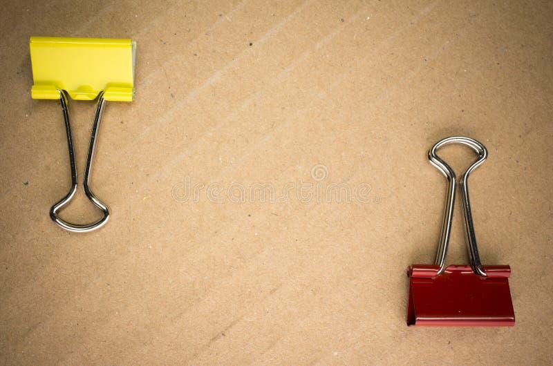 metal papierowe klamerki zdjęcie royalty free