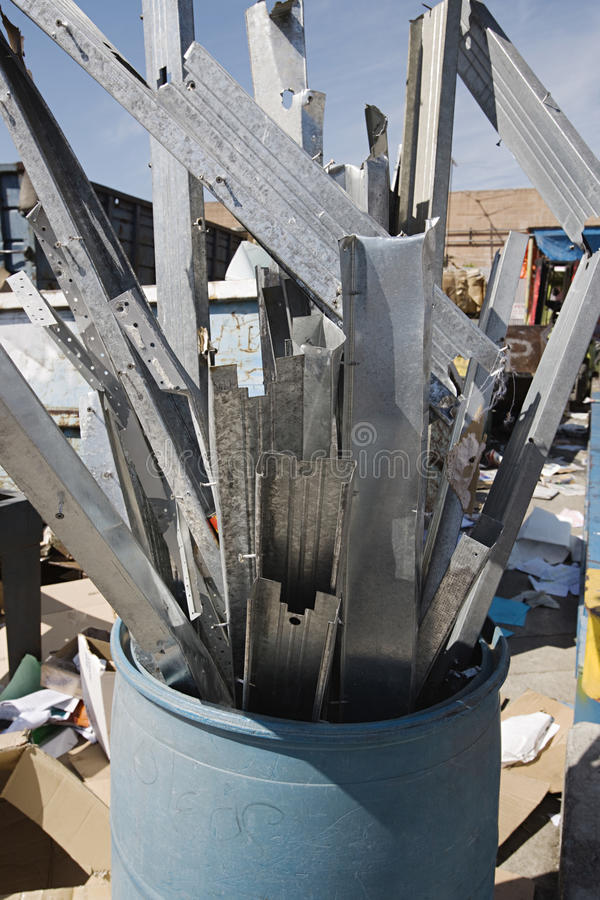 Download Metal Parts In Garbage Bin stock image. Image of recycle - 29660403