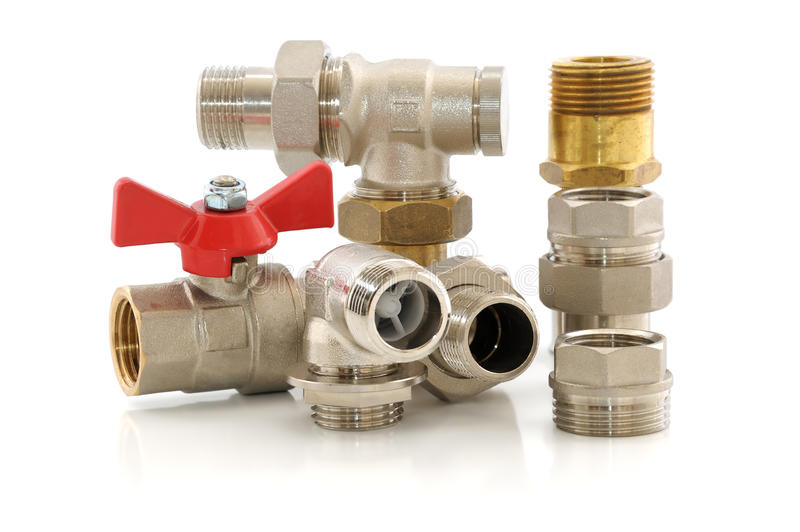 Download Metal Parts For Plumbing And Sanitary Equipment Stock Photo - Image: 24358932