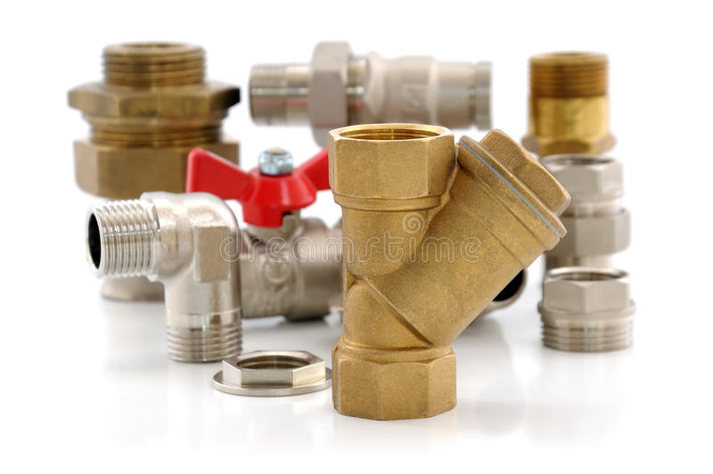 Download Metal Parts For Plumbing And Sanitary Equipment Stock Images - Image: 24574834