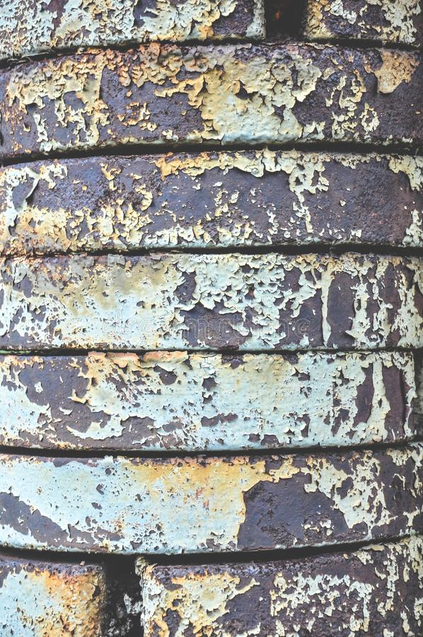 Metal parts in rust royalty free stock photography