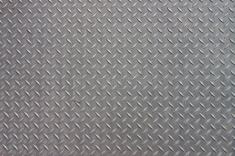 Metal Pattern. A diagonal pattern on gray metal stock photography