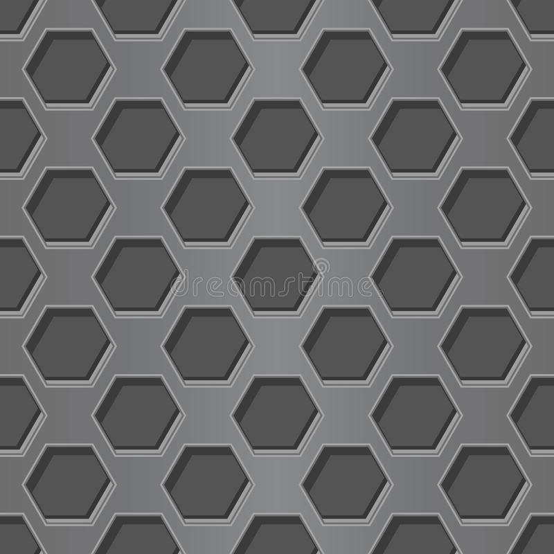 Metal perforated background. Seamless pattern vector illustration