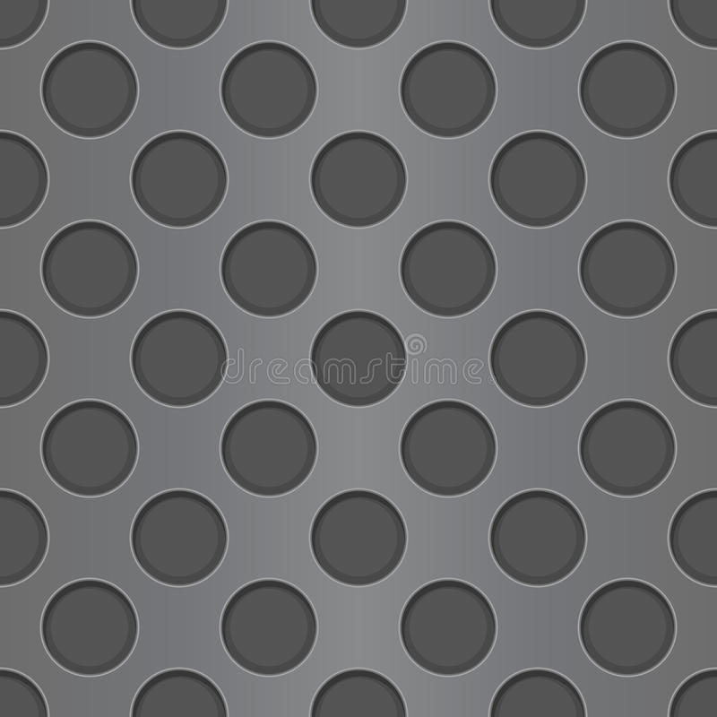 Metal perforated background. Seamless pattern stock illustration