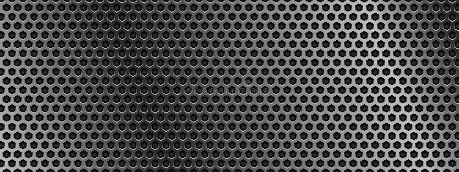 Metal perforated 3d texture. Vector illustration stock illustration