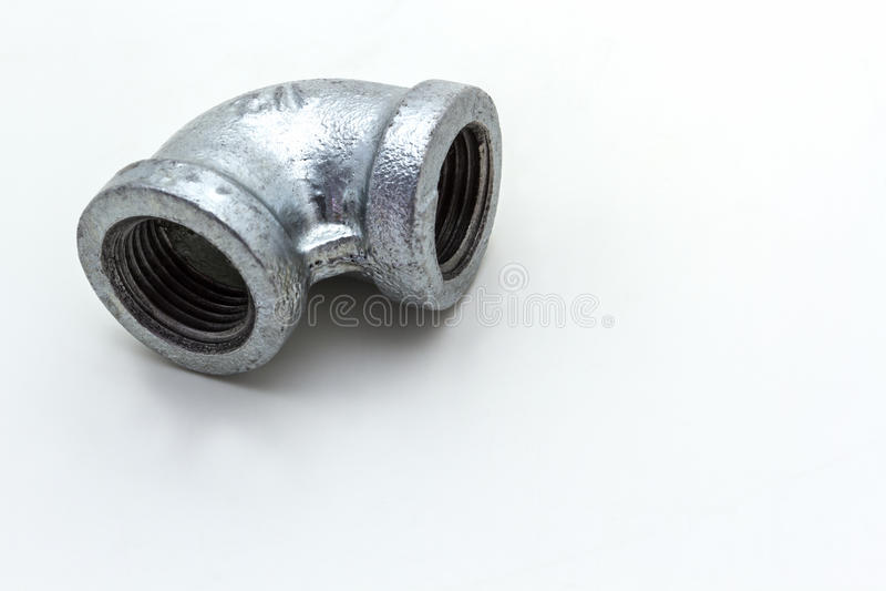 Metal pipe bends,Water inlet pipe valve. royalty free stock image
