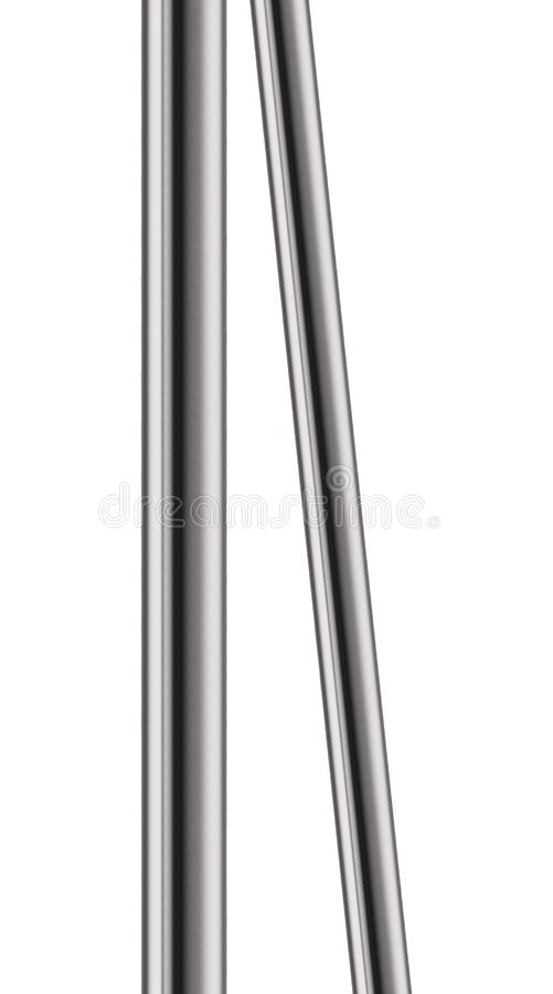 Metal pipe isolated on white royalty free stock image