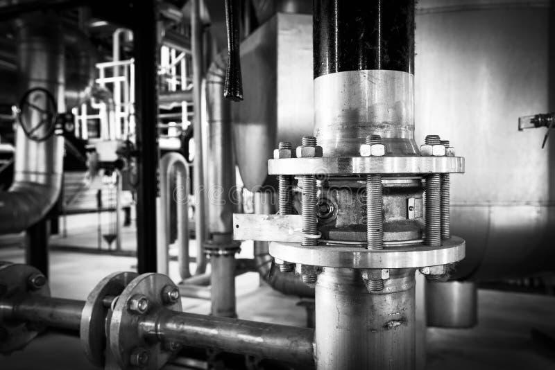 Metal pipeline royalty free stock photos